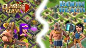 clash of clans and boom beach